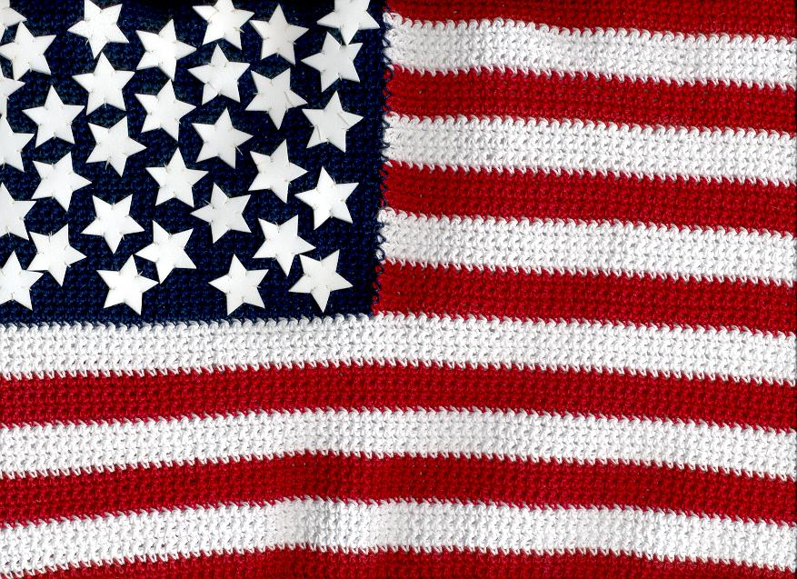 American flag; Actual size=240 pixels wide